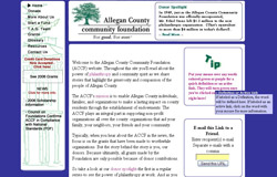 Allegan County Community Foundation website