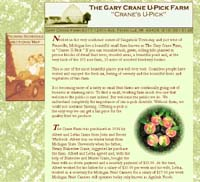 Gary Crane U-Pick Farm website