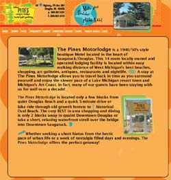 The Pines Motor Lodge website