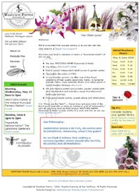 Westview Farms Perennials & Herbs website