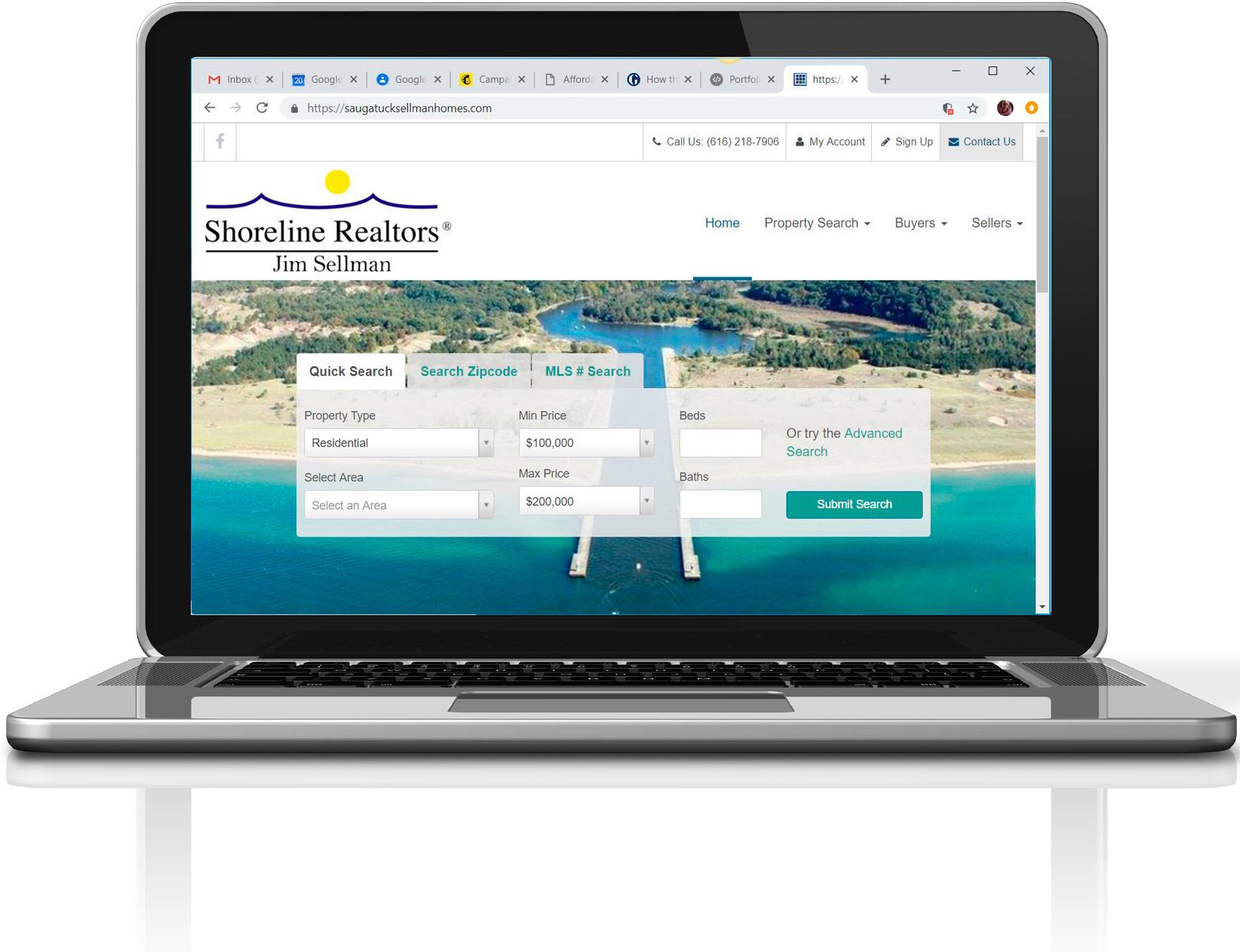Jim Sellman's Saugatuck Sellman Homes Responsive Website