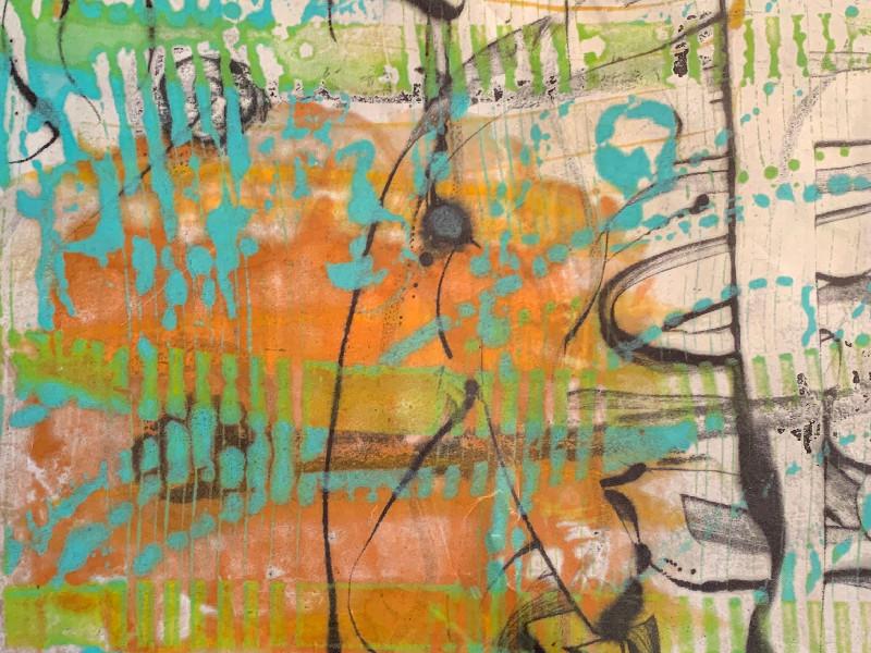 Christine Towner Detail of Encaustic Artwork