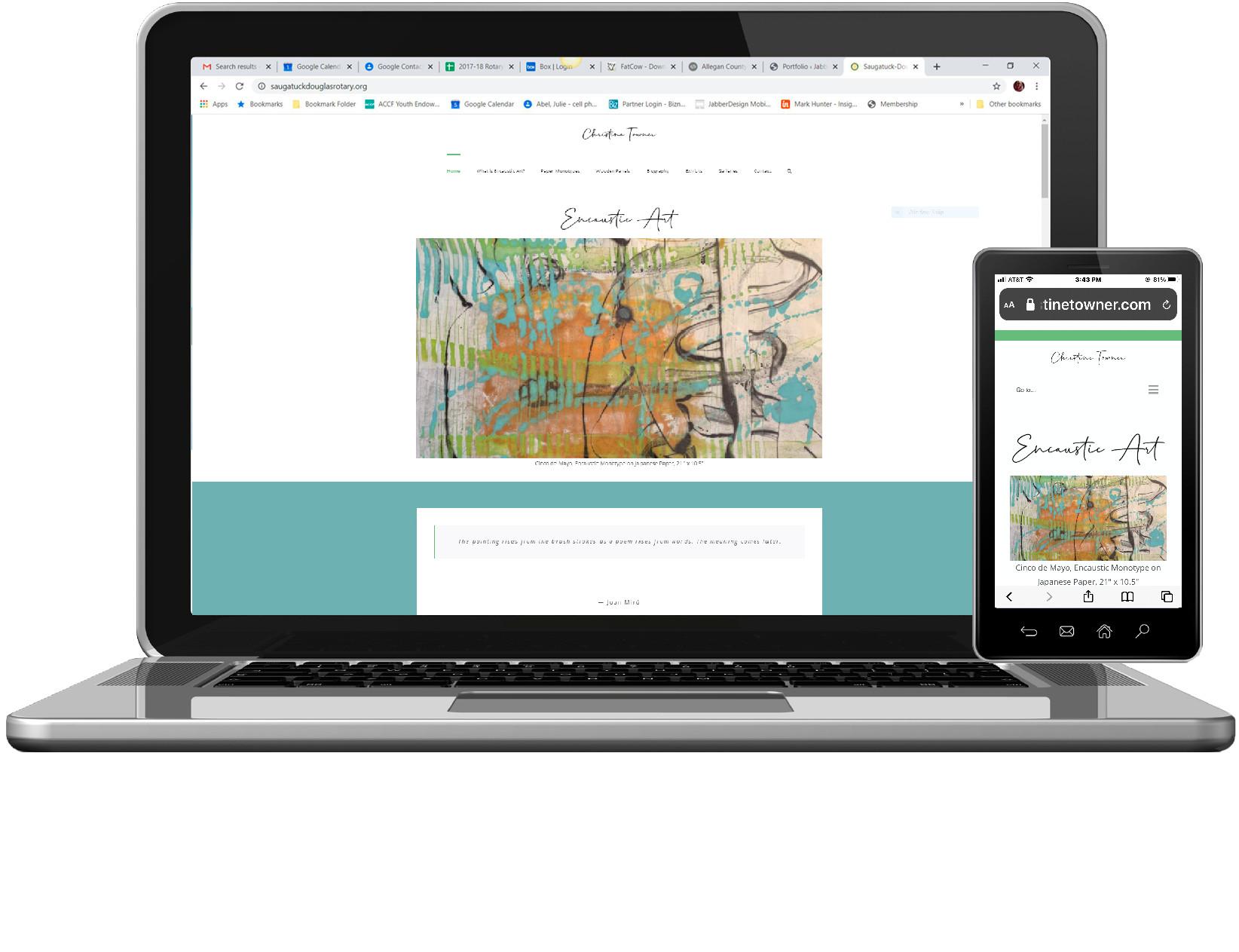 Christine Towner Website by JabberDesign