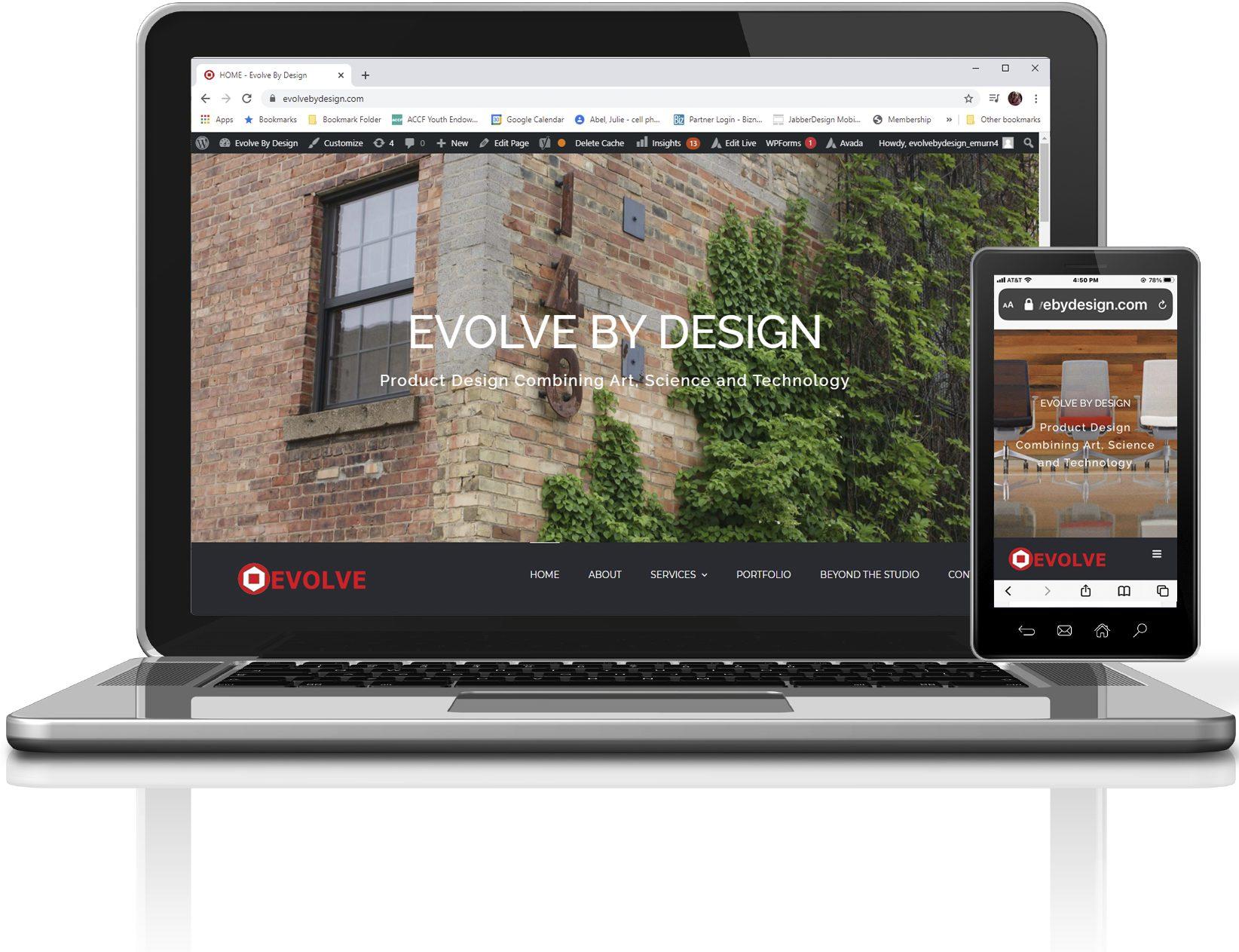 Evolve By Design Responsive Website designed by JabberDesign
