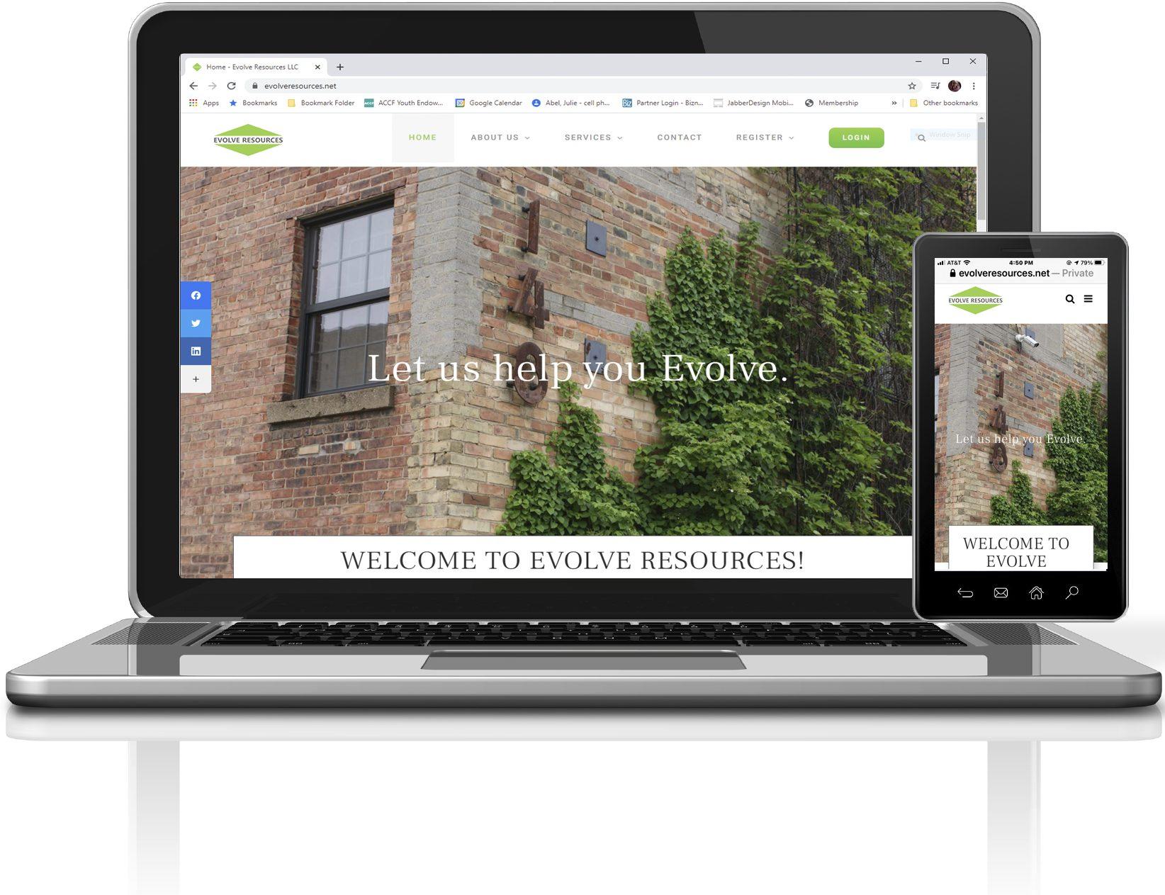 Evolve Resources Mobile Friendly Website by JabberDesign