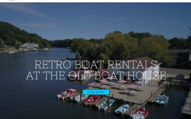Retro Boat Rentals Website by JabberDesign