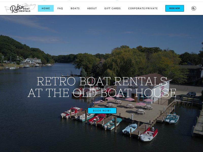 Retro Boat Rentals Website by JabberDesign